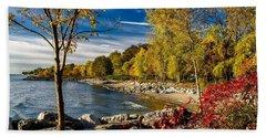 Autumn Scene Lake Ontario Canada Beach Towel