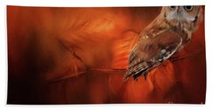Autumn Screech Owl Beach Sheet