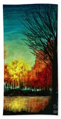 Autumn Silhouette  Beach Towel