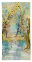 Autumn Sketch Beach Towel