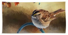 Autumn Sparrow Beach Sheet