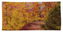 Autumn Splendor - Fall Landscape Beach Sheet by Barry Jones