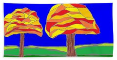 Autumn Stained Glass 1 Beach Towel