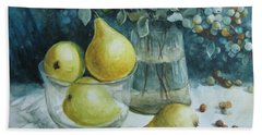 Beach Towel featuring the painting Autumn Still Life 3 by Elena Oleniuc