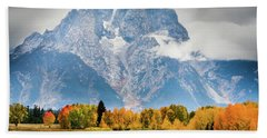 Autumn Storm Over Mount Moran Beach Towel