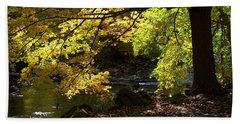 Autumn Stream Beach Sheet