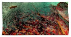 Beach Towel featuring the photograph Autumn Submerged by David Patterson