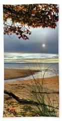 Autumn Sunrise On The James Beach Sheet