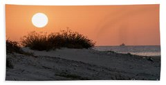 Beach Towel featuring the photograph Autumn Sunset by Arik Baltinester