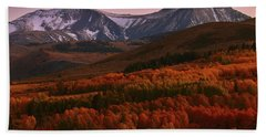 Autumn Sunset At Conway Summit In The Eastern Sierras Beach Sheet