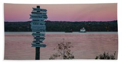 Autumn Sunset At Esopus Meadows Beach Towel