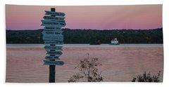 Autumn Sunset At Esopus Meadows Beach Towel