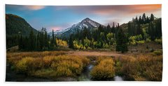 Autumn Sunset In Big Cottonwood Canyon Beach Sheet