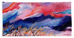 Autumn Sunset In The Sky Beach Towel