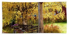 Rural Rustic Autumn Beach Towel