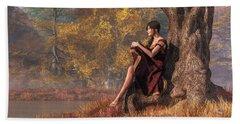 Beach Towel featuring the digital art Autumn Thoughts by Daniel Eskridge