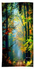 Autumn Trails In Georgia Beach Towel