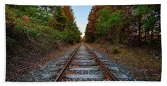 Autumn Train Beach Towel