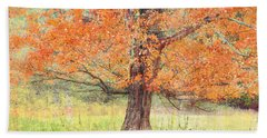 Beach Towel featuring the photograph Autumn Tree by Geraldine DeBoer