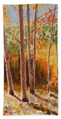 Autumn Trees Beach Sheet