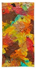 Autumn Leaves Underfoot Beach Towel