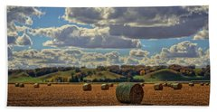 Autumn Valley Bales Beach Towel