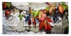 Autumn Vines Beach Towel
