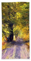 Autumn Walk Beach Towel by Gail Kirtz