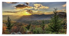 Autumn Warmth Blue Ridge Moutains Beach Towel