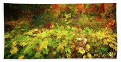 Autumn Watercolor Beach Sheet