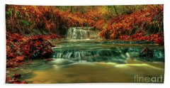 Autumn Waterfall Beach Sheet