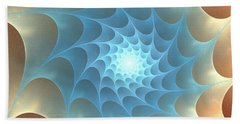Beach Towel featuring the digital art Autumn Web by Anastasiya Malakhova