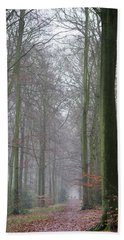 Autumn Woodland Avenue Beach Sheet by Gary Eason