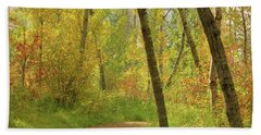 Autumn Woodlands Beach Sheet by Jim Sauchyn