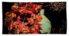 Thanksgiving Wreath Beach Towel by Charline Xia