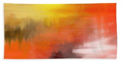 Autumnal Abstract  Beach Towel