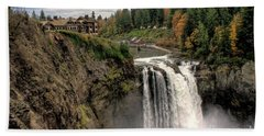 Beach Towel featuring the photograph Autumnal Falls by Chris Anderson
