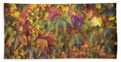 Autumnal Leaves Beach Towel