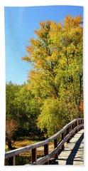 Autumnal North Bridge Beach Towel