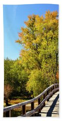 Autumnal North Bridge Beach Sheet