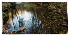 Beach Towel featuring the photograph Autumnal Pond  by Yuri Santin