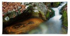 Beach Towel featuring the photograph Autumnal Stream by Yuri Santin