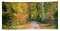 Autumnal Walkway Beach Sheet