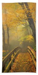 Autumn's Bridge To Heaven Beach Towel