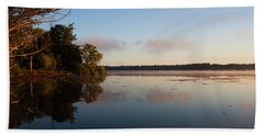 Beach Towel featuring the photograph Autumn's First Dawn by Jeff Severson