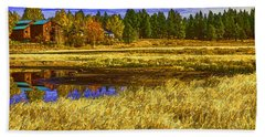 Beach Towel featuring the photograph Autumn's Glory by Nancy Marie Ricketts