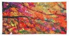 Autumns Splendorous Canvas Beach Sheet by Andrea Kollo