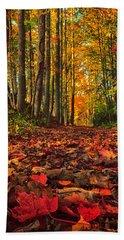 Autumn's Walkway Beach Sheet