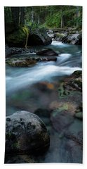 Avalanche Creek Through The Forest Beach Towel