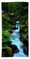 Avalanche Creek Waterfalls Beach Towel